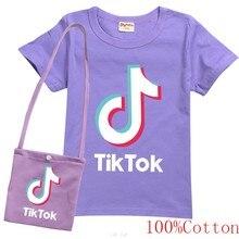 2020 meninos do bebê e menina t 100% tik tok t camisa crianças camisetas meninos roupas dos miúdos verão topo 3-16years