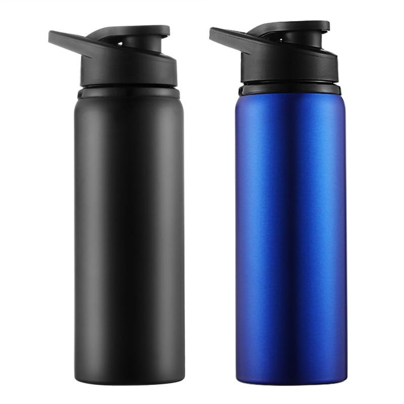 700 ml esportes garrafa de água aço inoxidável ao ar livre ciclismo acampamento portátil bicicleta garrafa com tampa corrida esporte viagem copo