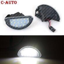2 pces 15 smd led carro auto número de licença placa luz da lâmpada branco acessórios peças para toyota aygo mk i 2005-2014 carro-estilo