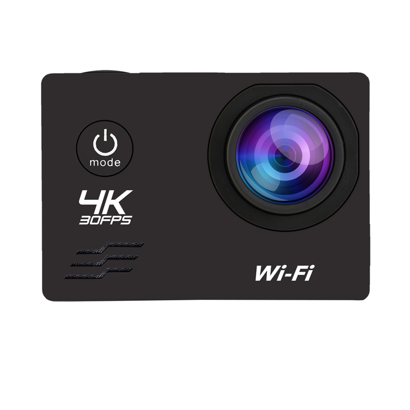 Action Camera HD 4K/60Fps Wifi 16MP 2.0 LCD 170D Lens Helmet Camera 30M Go Waterproof Pro Sports Camera Video Camcorder image