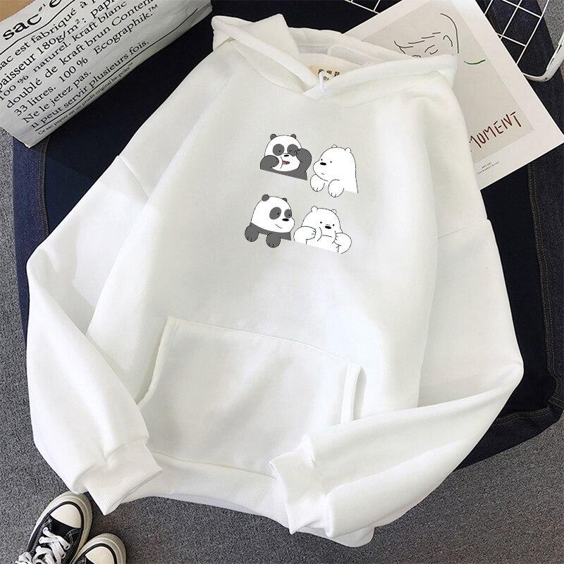 2019 Kpop Women Men Harajuku Sweatshirts Bears Printed Long-Sleeved Hoodie Pocket Casual Pullovers Graphic Tops Kawaii Hoodies