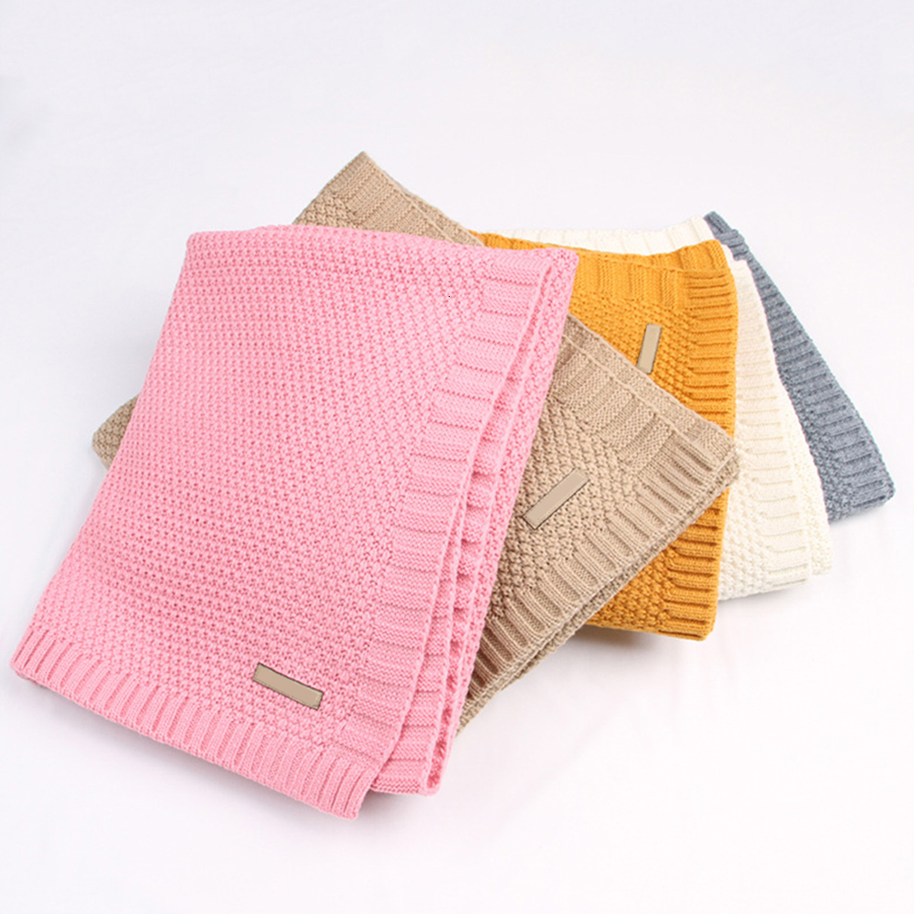 Knitted Baby Blankets Newborn Muslin Swaddle Organic Cotton Children's Bed Blankets Soft Bedding Baby Swaddle Newborns Blanket