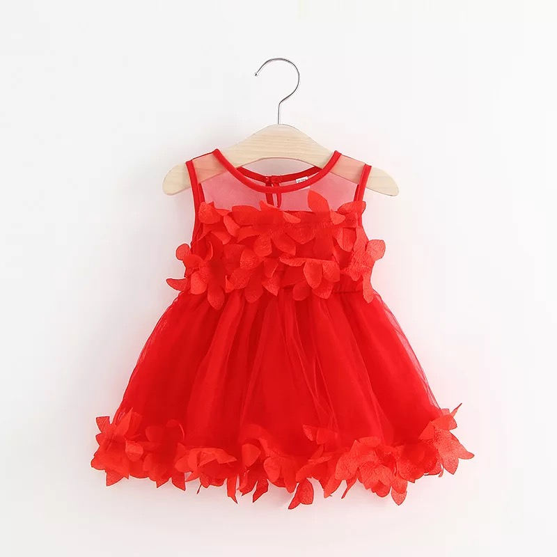 <font><b>Summer</b></font> <font><b>Baby</b></font> <font><b>Dress</b></font> Petal Embroidery Girl Princess Bridesmaid Wedding Party Pageant Tulle Tutu <font><b>Dress</b></font> Girl <font><b>Dress</b></font> Infant Clothes image