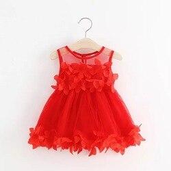 Verão vestido de bebê bordado menina princesa dama de honra casamento festa pageant tule tutu vestido da menina vestido infantil roupas