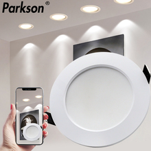 AC220V-240V Waterproof LED Downlight 7W 9W 12W 15W 18W Recessed Round LED Ceiling Lamp LED Spot Lighting Indoor Lighting cheap PARKSON 1 year IP65 PP Plastic Foyer 18W 15W 12W 9W 7W AC220v-230v White Silver Recessed Lamp
