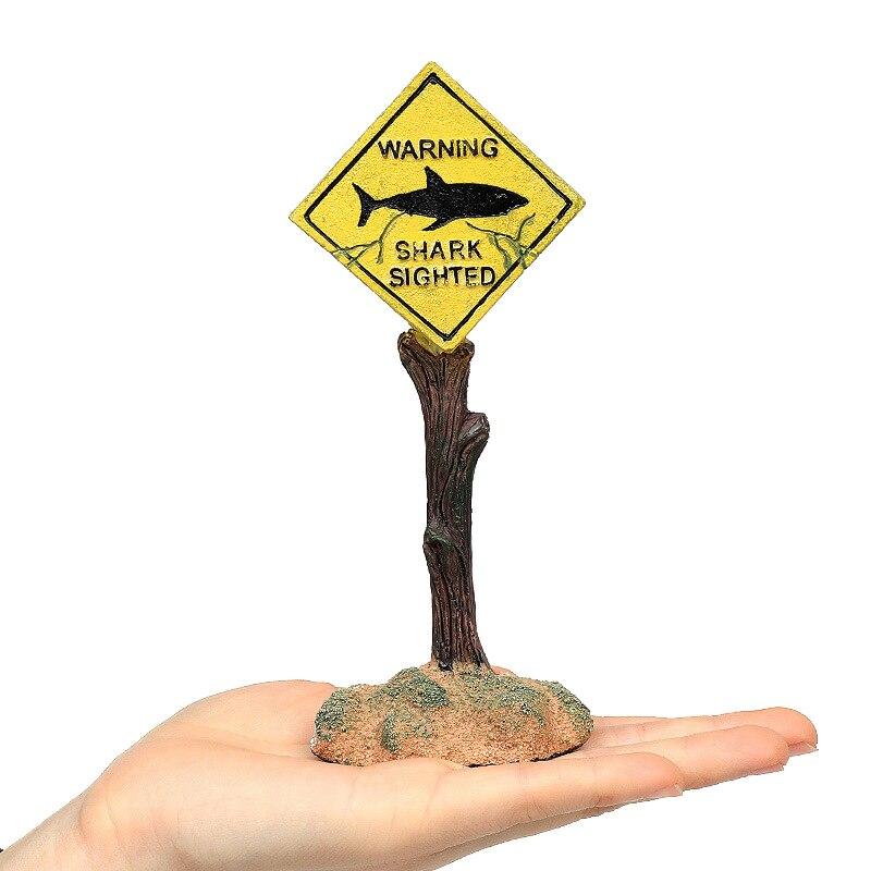Accessori d'abbellimento del segnale d'avvertimento dello squalo artificiale degli ornamenti della decorazione dell'acquario della resina per il fondo dell'acquario del carro armato di pesce|Decorations| - AliExpress