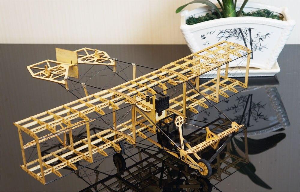 Купить с кэшбэком Free Shipping Static Model, Airplane Models, Curtiss Pusher Static Scale Display Replica,Balsa Kit, Balsawood Airplane