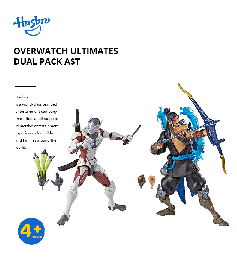 "Overwatch Ultimates Series Chrome Genji Blizzard Video Game 6/"" Figure  NEW!"