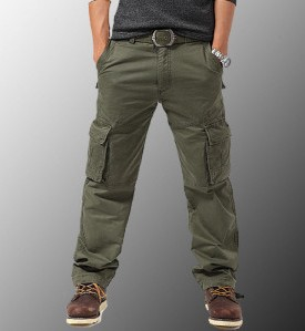 Hot Selling Men's Cotton Multi-Pocket Bib Overall Outdoor Pants Army Pants Recruit