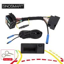 Sinosmart canbus invertendo dinâmica trajetória estacionamento câmera para skoda octavia volkswagen tiguan 187b 280 mqb pq audi a5 q5 q2