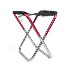 New Outdoor Folding Chair Fishing Portable Aluminum Stool Seat Camping Picnic Padded About 230*130*255mm