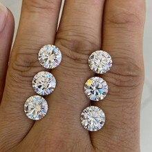 Meisidian % 100% geçiş pozitif elmas test cihazı 3 mükemmel kesim 6.5mm 1cts D VVS serbest moissanit taş elmas taş