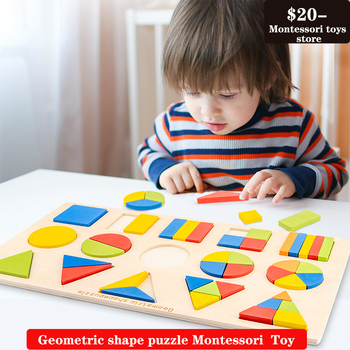 Multifunctional children's puzzle geometric shape puzzle early education wooden puzzle matching board Montessori  Toy free shipping baby wooden montessori teaching aids puzzle toy children early education puzzle kids geometric shape puzzle toy