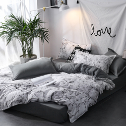 Penghibur Bedding Set Bed Cover Queen King Nordic Selimut Penutup Set Seprai Selimut Penutup Bantal Dekorasi Rumah Tekstil