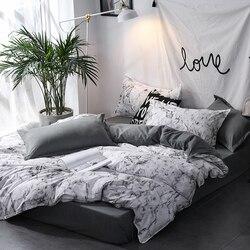 Yorgan nevresim takımı 3 adet çarşaf seti kraliçe kral İskandinav yorgan yatak örtüsü seti yorgan kapak yatak örtüsü yastık kılıfı ev dekor tekstil