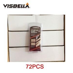Image 1 - Visbella 72pcs Leather Vinyl Restoration Repair Kit Upholstery Cleaner Update Car Seat Sofa Coats Holes Scratch Cracks Rips