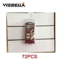 Visbella 72pcs עור ויניל שיקום תיקון ערכת ריפוד מנקה עדכון רכב מושב ספה מעילי חורי שריטה סדקים קורע