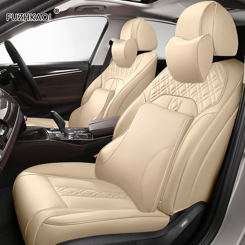 FUZHKAQI Custom Leather car seat covers For BMW 3/4 Series E46 E90 E91 E92 E93 F30 F31 F34 F35 G20 G21 F32 F33 F36 car seats image