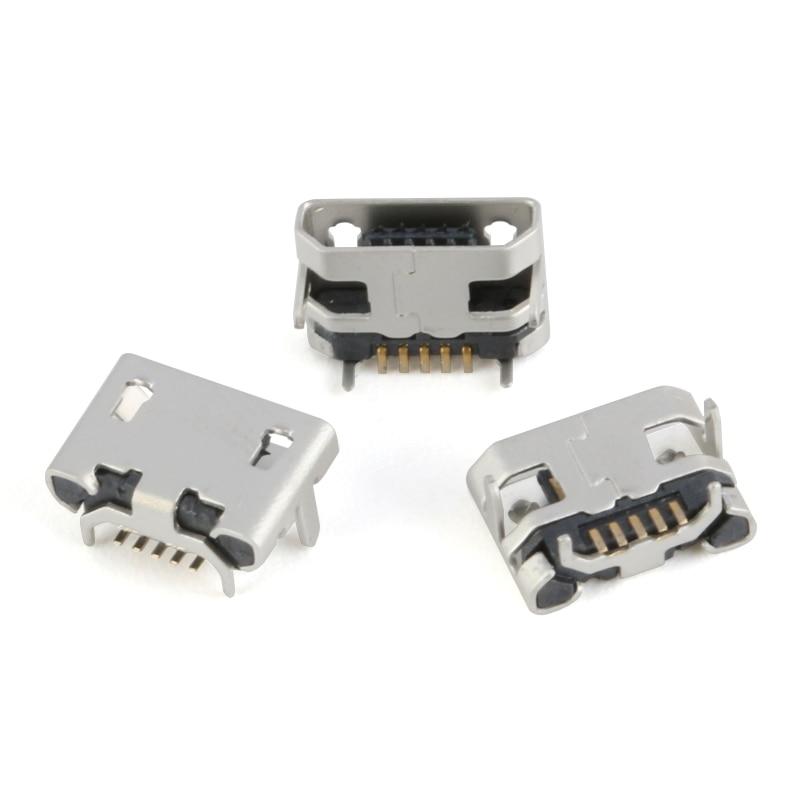 60 Pcs 1set Micro USB Connector 12 Models Socket Jack USB Connectors Set For MP3 Lenovo Huawei Samsung SMD DIP Socket Set Kit 7