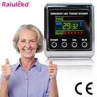 Diode 650nm Laser Therapie Uhr LLLT Für Rhinitis Diabetes Bluthochdruck Thrombose Cholesterin Laser Bestrahlung Instrument