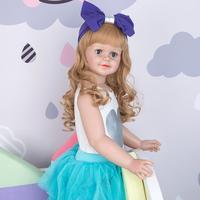 30 inch Full hard vinyl real baby doll huge bebe reborn toddler girl dress model Christmas Decoration popular gift toy dolls