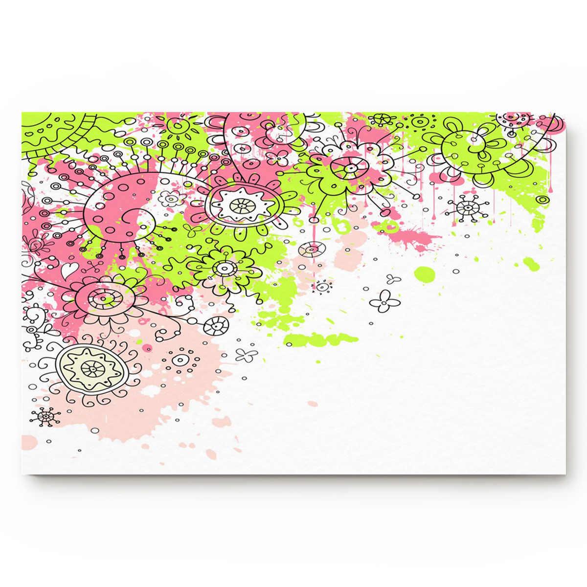 زهرة زهرة اللون الغنية جميلة بيجو حسن المظهر الأخضر الأحمر الإبداعية تصميم نمط حمام داخلي ديكور مماسح