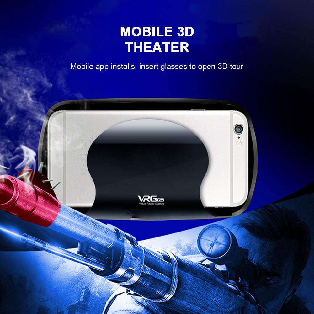5~7inch VRG Pro 3D VR Glasses Virtual Reality Full Screen Visual Wide-Angle VR Glasses Box For 5 to 7 inch Smartphone Eyeglasses 3