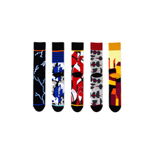 Leopard, Coffee Luo Kou, Black Luo Kou, lightning, building personality creative, long cotton socks C62 luo q white s