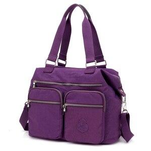 Image 2 - Lüks kadın Messenger naylon omuzdan askili çanta bayanlar Bolsa Feminina su geçirmez yüksek kapasiteli seyahat Kipled çanta kadın Crossbody çanta