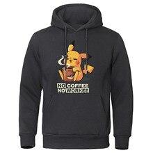 Мужская толстовка в стиле Харадзюку С героями мультфильмов, толстовки с капюшоном без кофе, толстовки с покемонами пикачу, повседневная мужская забавная уличная одежда, пуловер в стиле аниме