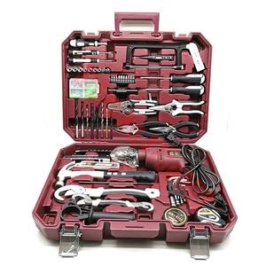 Набор ручных инструментов, бытовой набор инструментов для ремонта с пластиковым ящиком для хранения, торцевой ключ, отвертка, набор инструм...