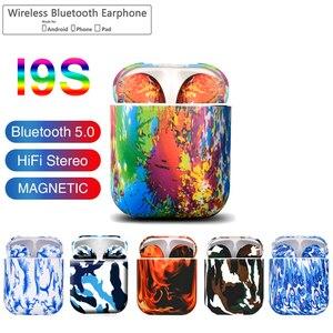 I9S TWS Красочные Беспроводные Мини Bluetooth наушники беспроводные стерео портативные Bluetooth гарнитуры I9s V5.0