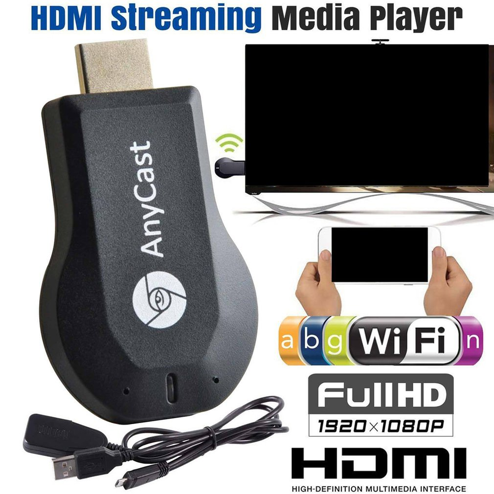 TV Stick 1080P Wireless WiFi Display TV Dongle Receiver For AnyCast M2 Plus For Airplay 1080P HDMI TV Stick For DLNA Miracast