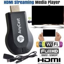 WiFi 1080P HD HDMI tv stick AnyCast DLNA bezprzewodowy odbiornik Miracast Airplay Dongle dla IOS dla androida(China)