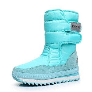 Image 5 - Dwayne womens snowboots waterproof warm plush boots non slip snow boots Botas de mujer Botas de invierno de mujer plus size