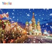 Yeele Winter Castle Snow Scene Natural Scenery Photography Backgrounds Custom Photographic Backdrop For Photo Studio Props цена