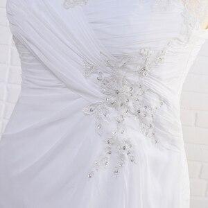 Image 5 - Jiayigong מניית שמלות כלה בתוספת גודל שווי שרוול Applique נשים חוף כלה שמלות שיפון Vestido דה Noiva כלה שמלות