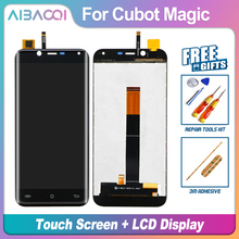 AiBaoQi yeni orijinal 5.0 inç dokunmatik ekran + 1280x720 LCD ekran meclisi değiştirme Cubot sihirli Android 7.0 telefon