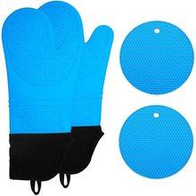 Силиконовые рукавицы и держатели для горшков очень длинные кухонные