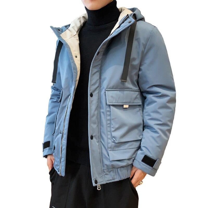 Anbican Fashion Men's Winter Jacket 2019 Brand New Hooded Windbreaker Parka Coat Men Thick Warm Winter Parkas