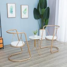 Обеденный стул Скандинавский современный минималистичный Балконный стул Европейский дом Крытый Ins качели из кованого железа кресло-шезлонг спальня