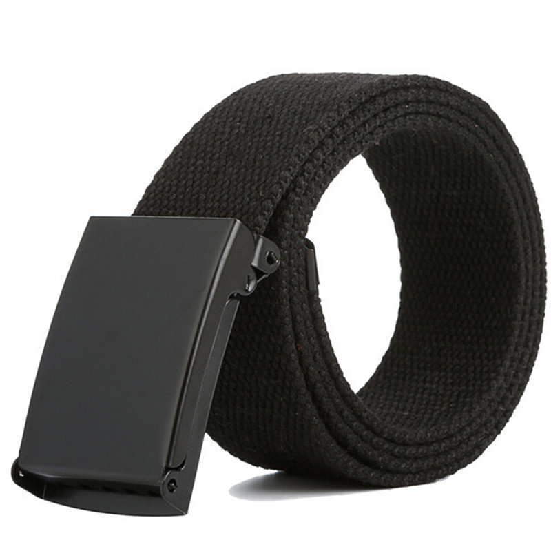 Men Belt New Fashion Unisex Army Tactical Waist Belt Jeans Male Casual Luxury Canvas Webbing Waistband Ceinture Femme 17 Colors