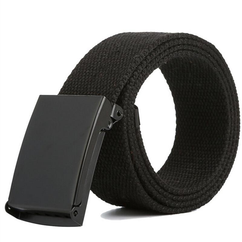 Men Belt New Fashion Unisex Army Tactical Waist Belt Jeans Male Casual Luxury Canvas Webbing Waistband Ceinture Femme 17 Colors