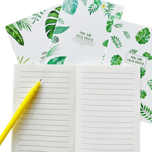 20 Pages Cute Pure And Fresh Breath Green Leaves Notebook Writing Diary Book School Office Supply Student Stationery
