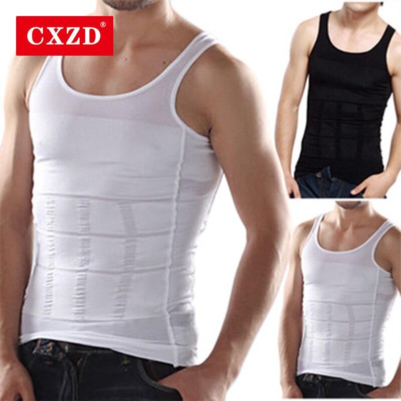 CXZD Men Slimming Body Shaper Tummy Shaper Vest Slimming Underwear Corset Waist Waist Cincher Men Bodysuit Dropship