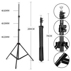 Image 5 - Профессиональный световое Фотооборудование комплект с софтбоксом мягкий зонтик фоновая стойка фронтальное освещение лампы Фотостудия