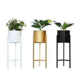 Kwiat powietrza europejski styl złoty balkon salon kryty gospodarstwa domowego typu lądowania zielony Luo metalowa doniczka sadzenia ramki w Półki dla roślin od Meble na