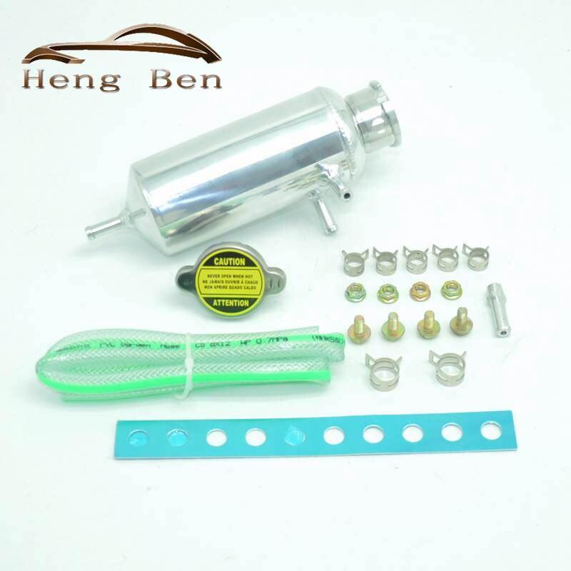 Aluminum Radiator Power Steering Tank Reservior Swirl bottle Universal