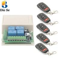 433MHz Universal Wireless Remote Schalter DC 12V 4 Gang rf Relais und Sender für Fernbedienung Garage/LED/Home appliance Control