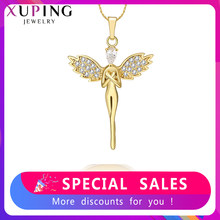 Xuping Fashion Charm Style Necklace Pendant of Human Shape for Women Girls Jewelry Black Friday Gifts S81,6-33357(China)